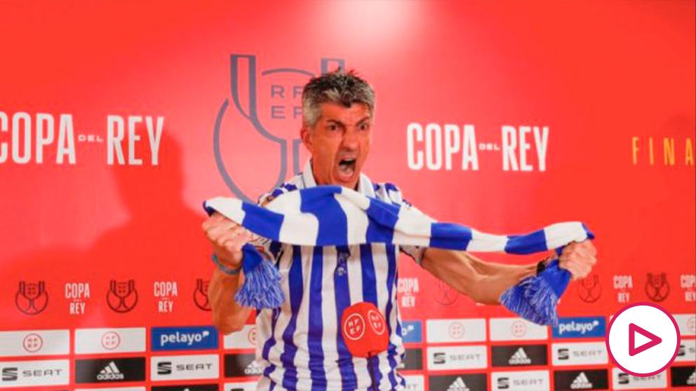 Imanol Alguacil, en rueda de prensa. (Real Sociedad)