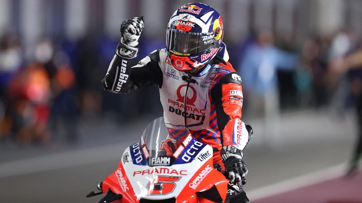 Johann Zarco durante el GP de Doha de MotoGP. (AFP)