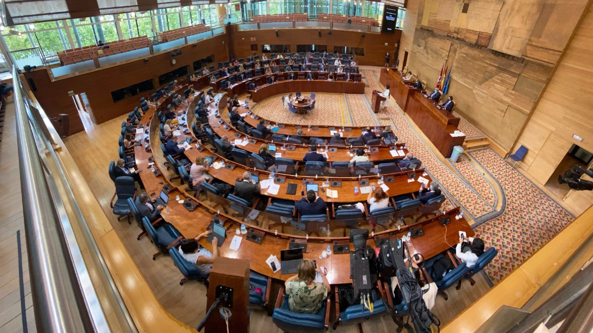 Imagen de archivo de la Asamblea de Madrid.