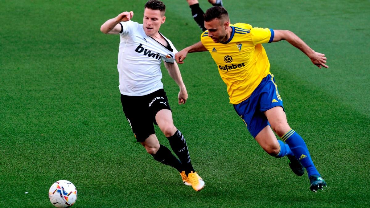 Juan Cala en el partido contra el Valencia. (EFE)