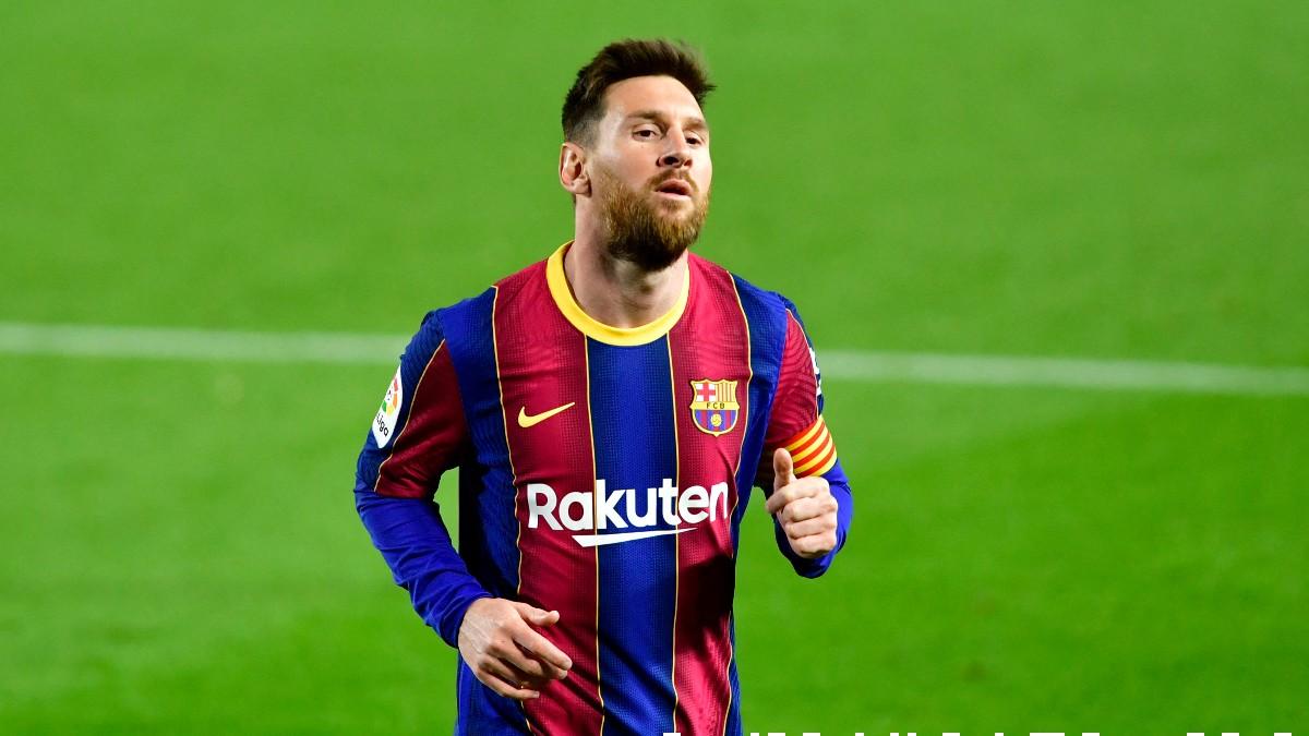 Leo Messi con el Barcelona. (AFP)