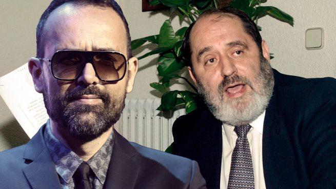 El presentador Risto Mejide y el abogado Rodríguez Menéndez.