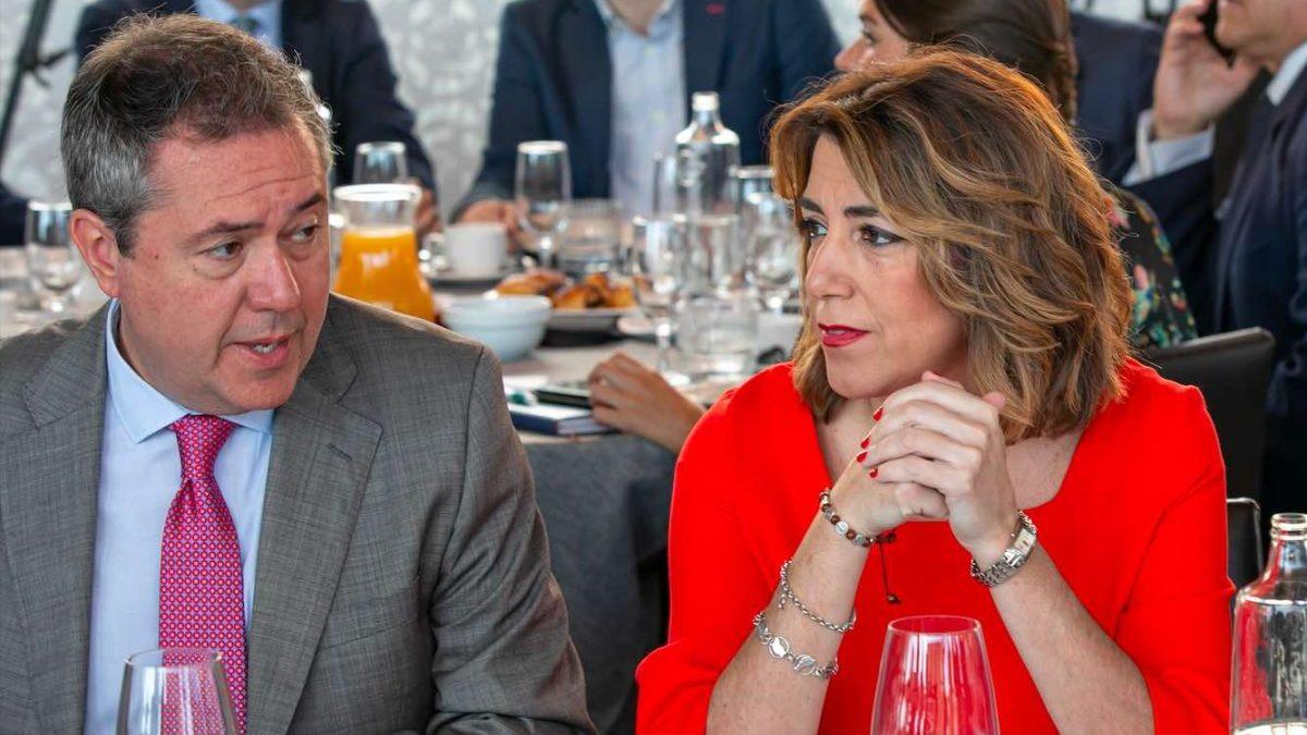 Los socialistas Susana Díaz y Juan Espadas (Foto: Jesús Prieto / Europa Press).