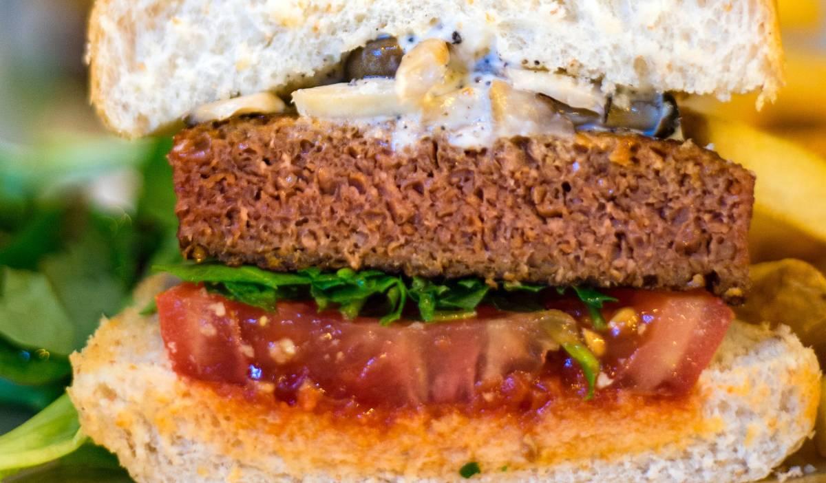 Hamburguesa de alubias rojas y arroz