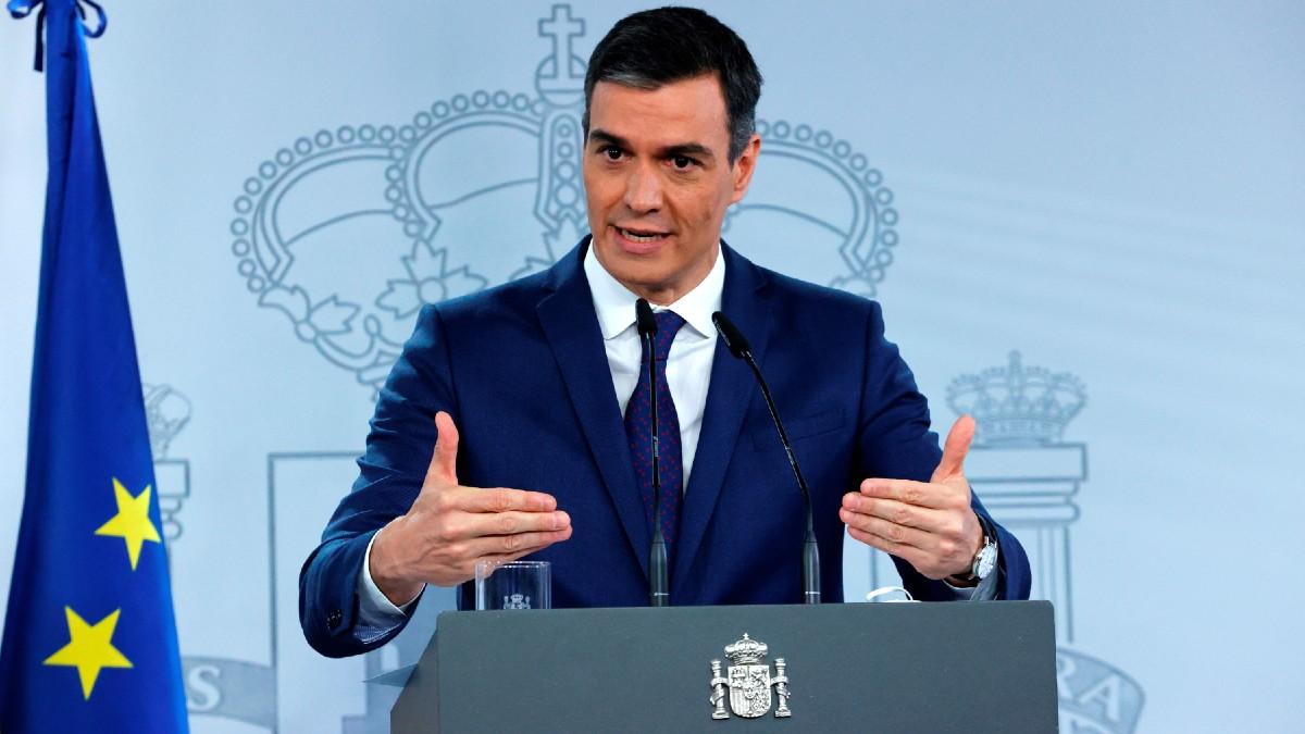 El presidente del Gobierno, Pedro Sánchez, en rueda de prensa tras la reunión del Consejo de Ministros. (Foto: Efe)