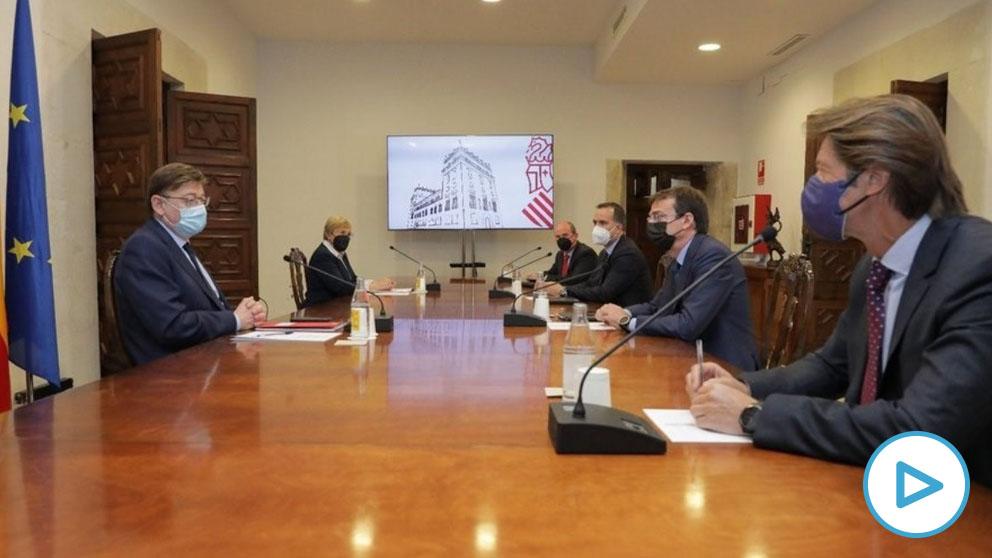 Reunión de Puig y Barceló con representantes de Janssen – GVA