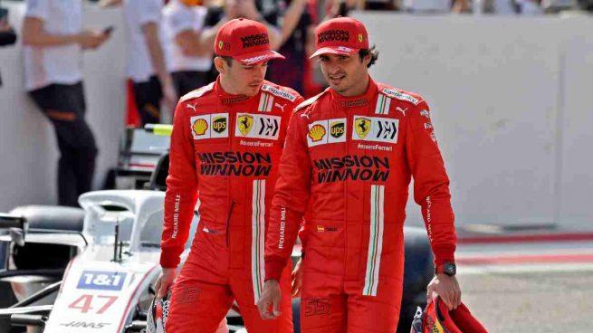 Leclerc y Carlos Sainz