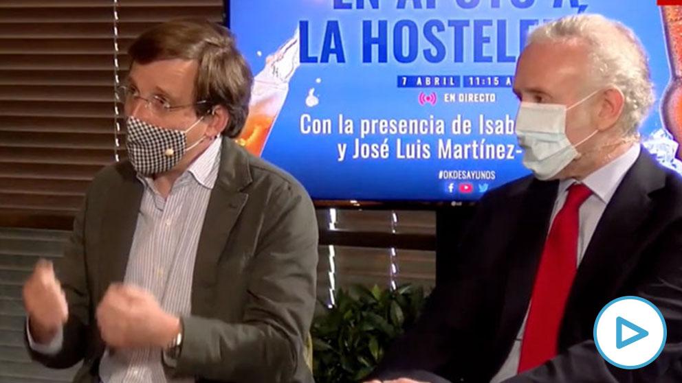 José Luis Martínez Almeida y Eduardo Inda.