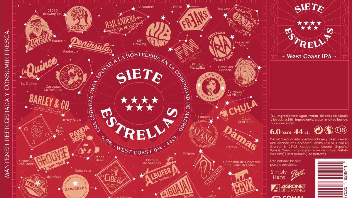 Evento '7 Estrellas' en apoyo a la hostelería madrileña.