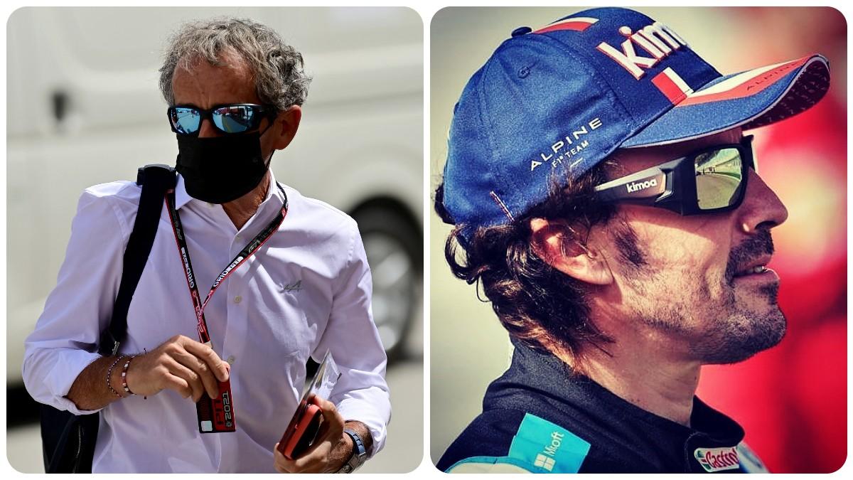 Alain Prost y Fernando Alonso. (AFP)
