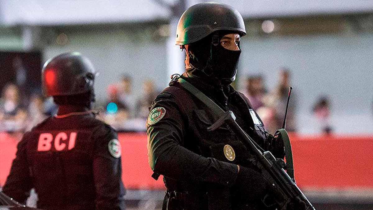 Miembros de las brigadas centrales de intervención marroquíes (BCI). Foto: Atalayar