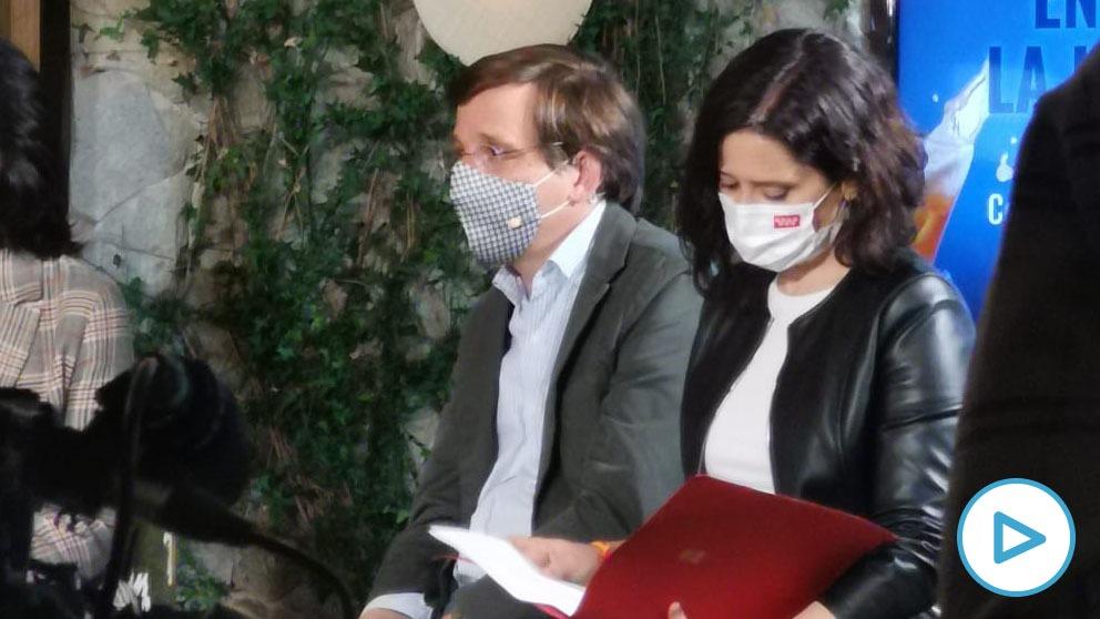 José Luis Martínez Almeida e Isabel Díaz Ayuso.