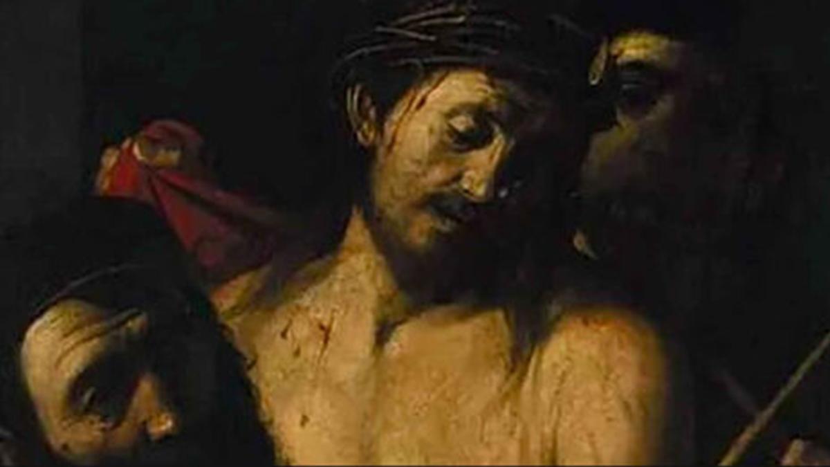 Detalle del supuesto cuadro de Caravaggio.