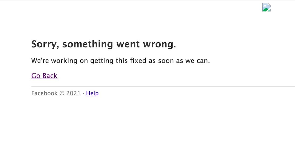 Facebook está caido