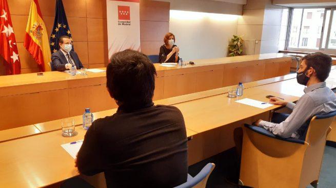 Los riders que quieren ser autónomos se reúnen con la Comunidad de Madrid