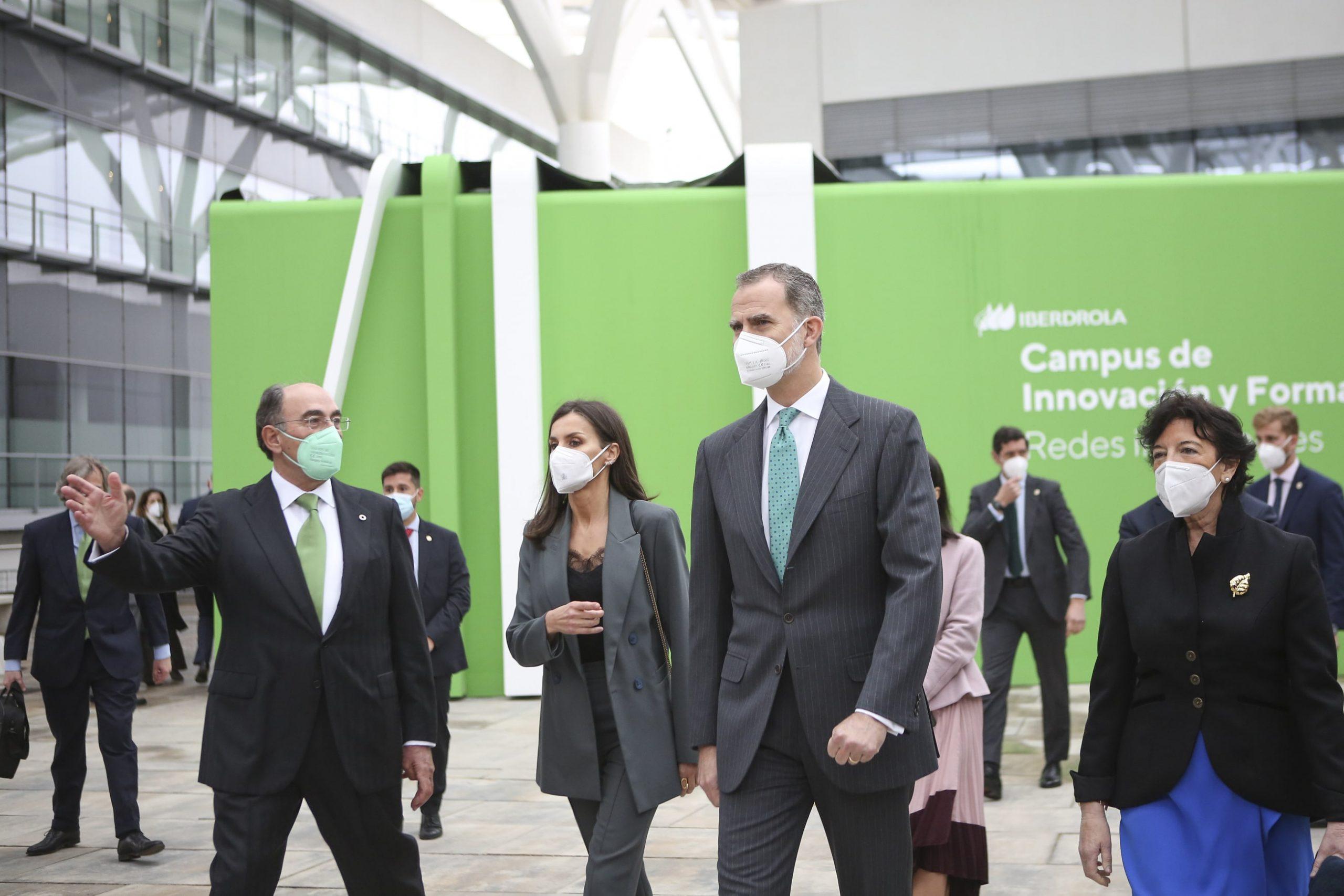 Los Reyes, Ignacio Galán e Isabel Celaá en el Campus Iberdrola @Iberdrola