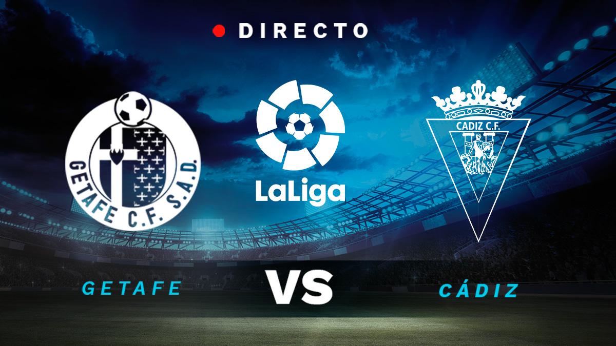 Getafe – Cádiz, en directo online: resultados, goles y minuto a minuto del partido de la Liga Santander hoy.