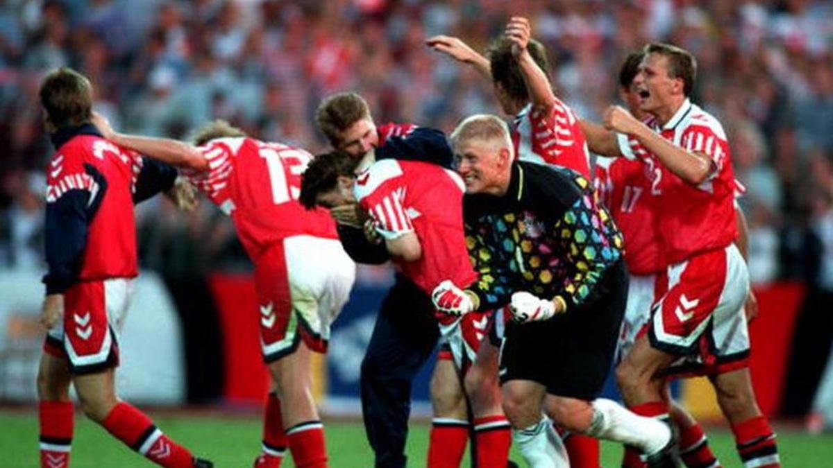 Dinamarca ganó, contra todo pronóstico, la Eurocopa del 92