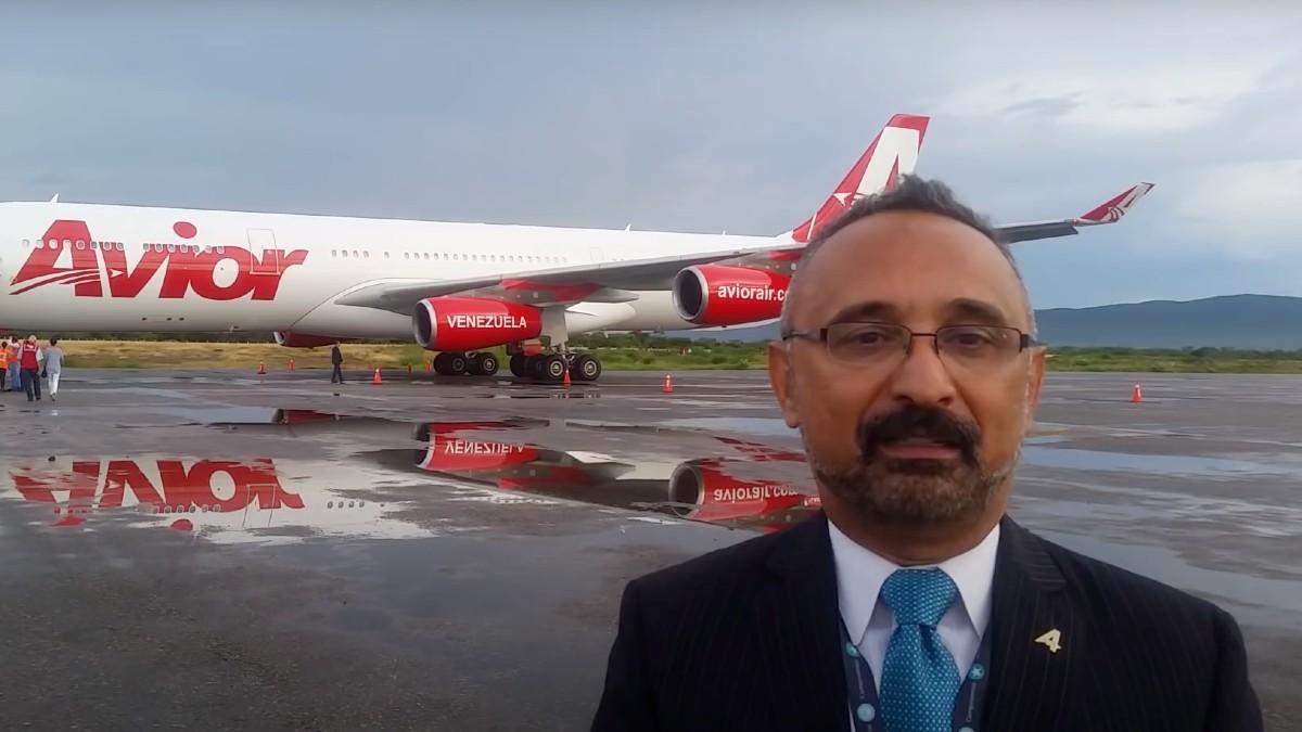 El director comercial de la compañía aérea Plus Ultra, Gibson Preziuso.