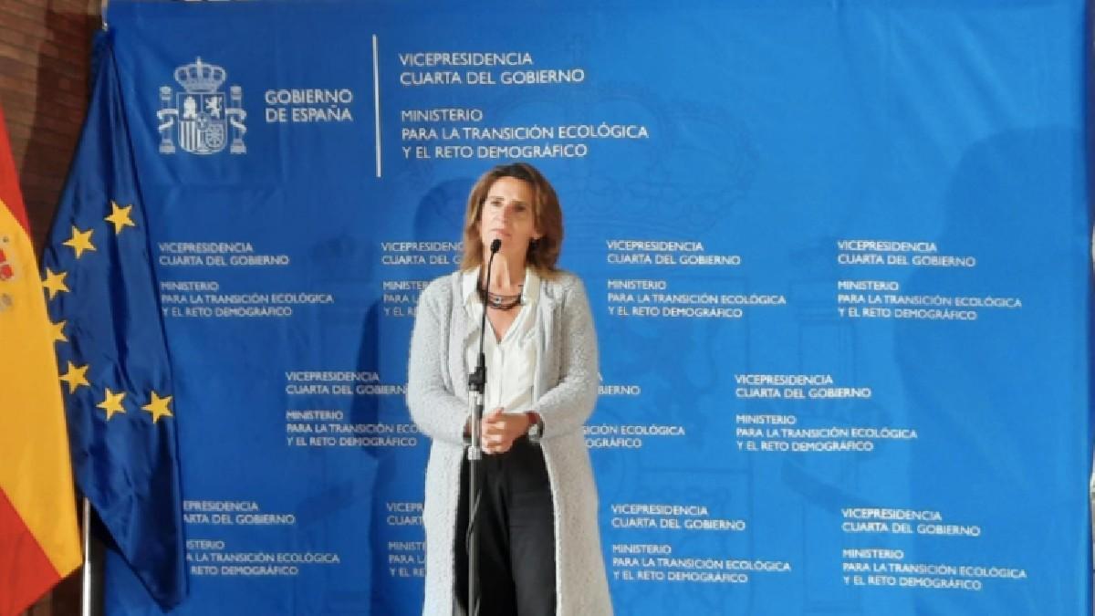 La vicepresidenta cuarta y ministra para la Transición Ecológica y el Reto Demográfico, Teresa Ribera, en la presentación del Plan Moves III
