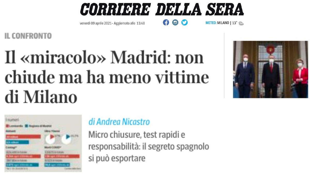 El artículo del Corriere della Sera