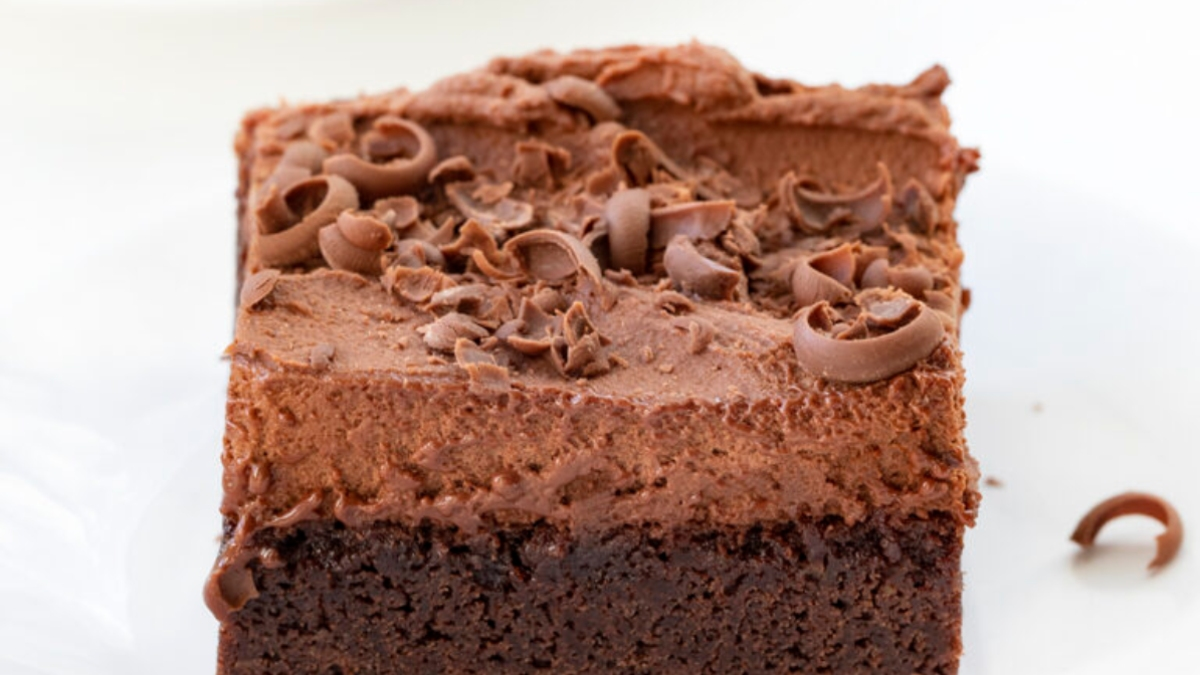 Brownie mousse de chocolate, una receta perfecta para amantes del chocolate