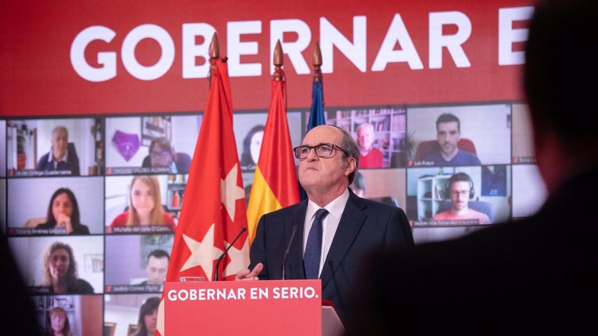 El socialista Ángel Gabilondo en un acto de precampaña.