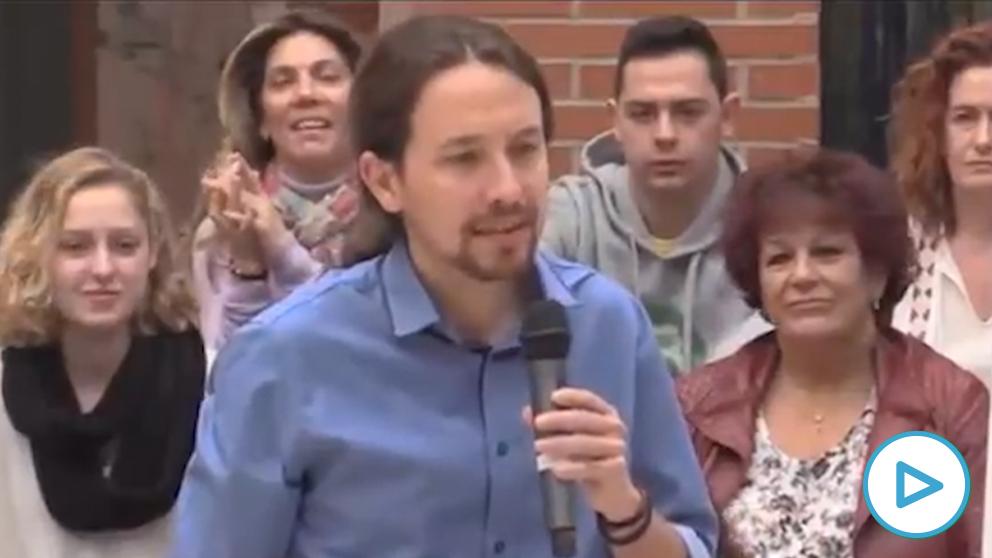 Pablo Iglesias en un acto electoral de Podemos en diciembre de 2015.