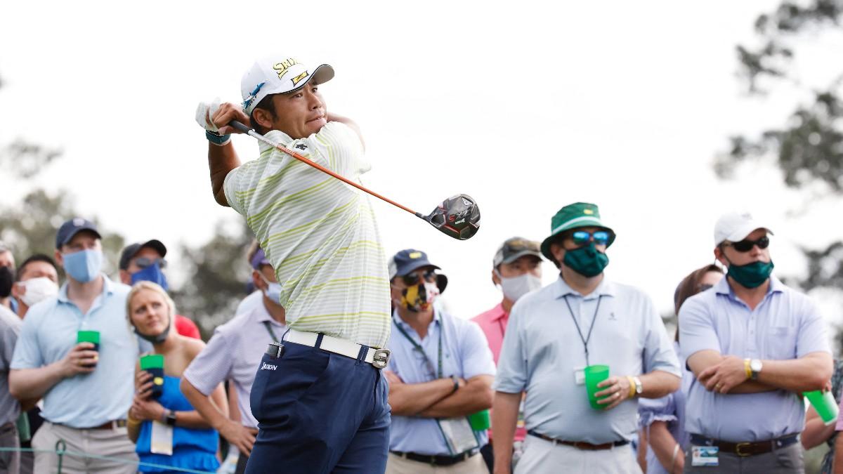 Hideki Matsuyama, durante el Masters de Augusta. (AFP)