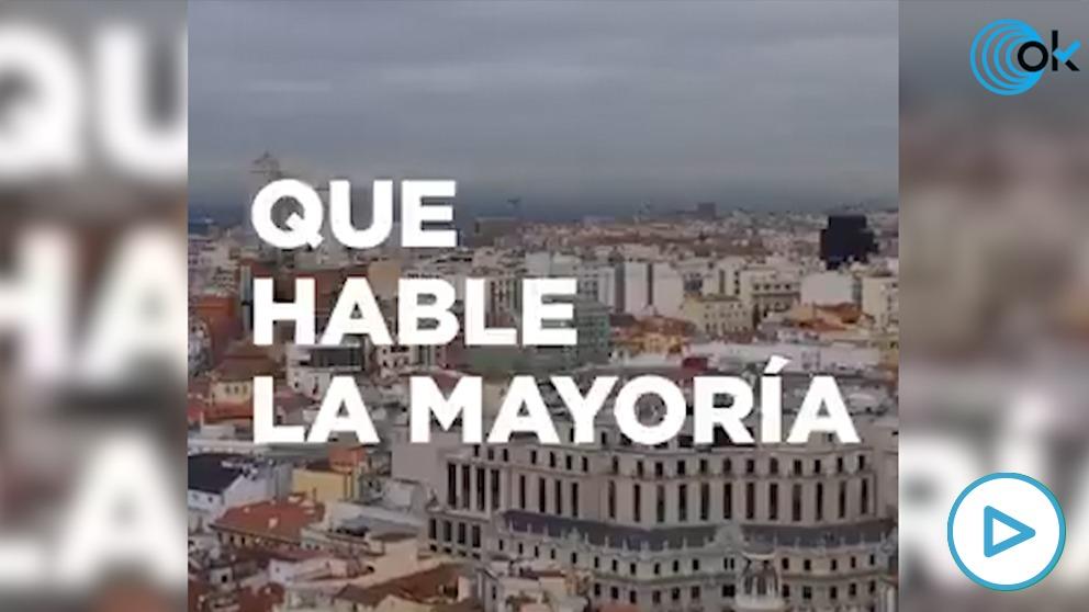 El vídeo difundido por Podemos contra los periodistas.