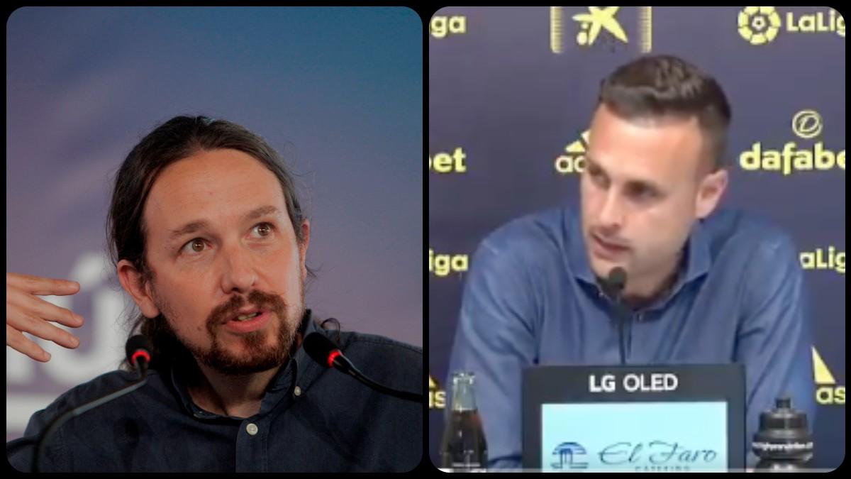 Pablo Iglesias y Juan Cala. (EFE)