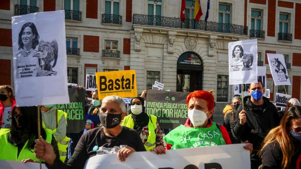 Manifestación de la FRAVM contra Isabel Díaz Ayuso.