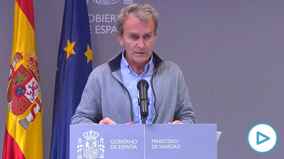 Fernando Simón durante su comparecencia.