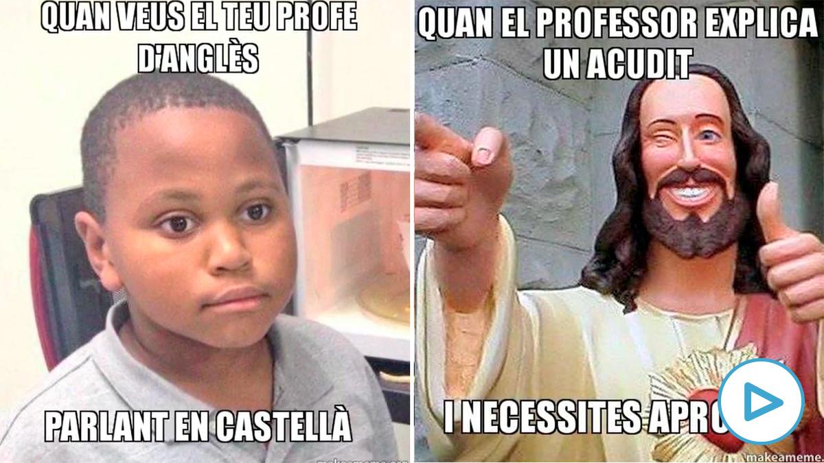El taller sobre memes que imparte Plataforma per la Llengua para fomentar el catalán.
