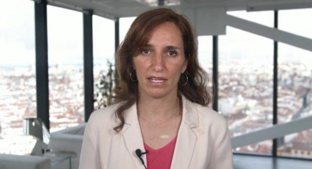 Mónica García en el lujoso ático donde ahora graba sus vídeos.