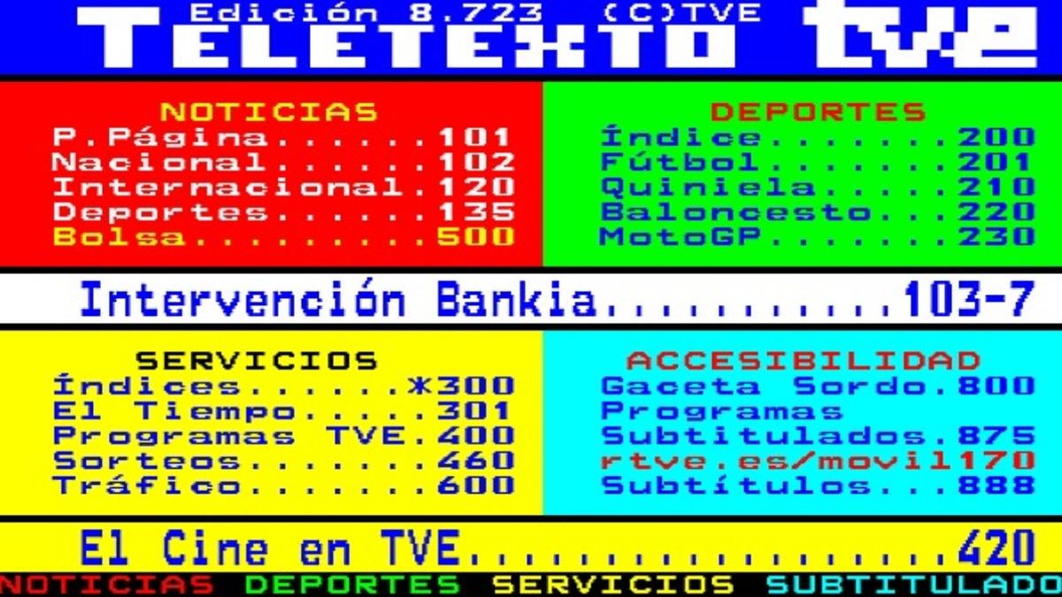 El teletexto llegó a España en 1988