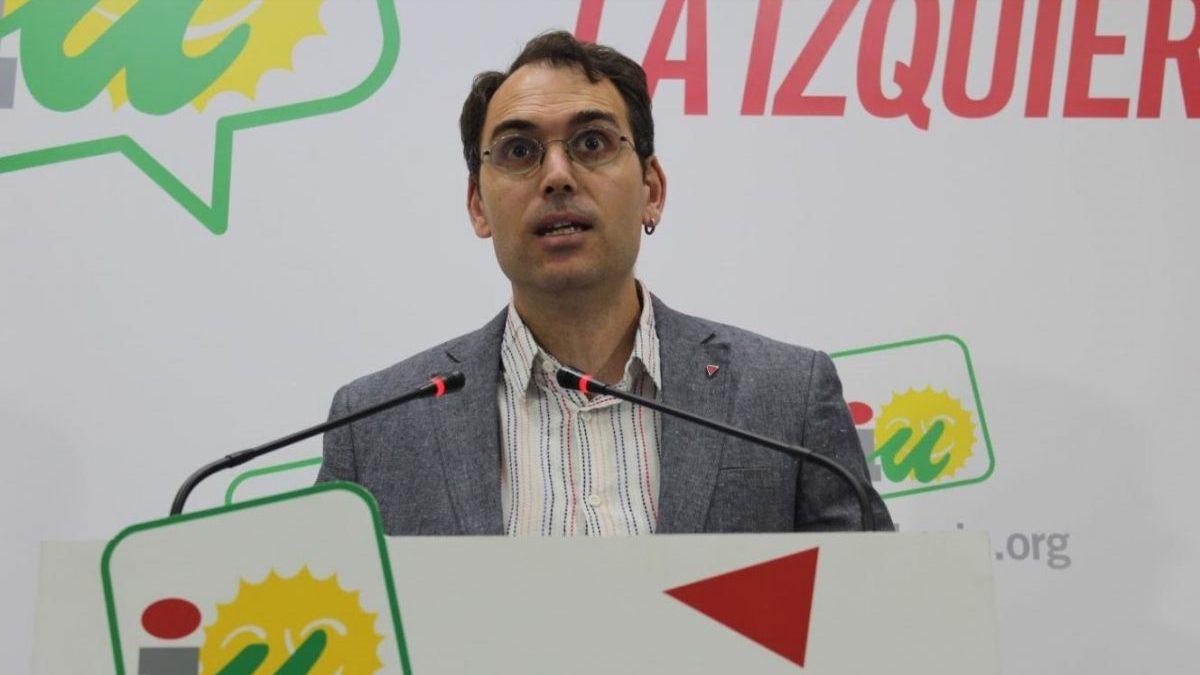 Toni Valero, coordinador general de IU Andalucía y portavoz de Adelante Andalucía