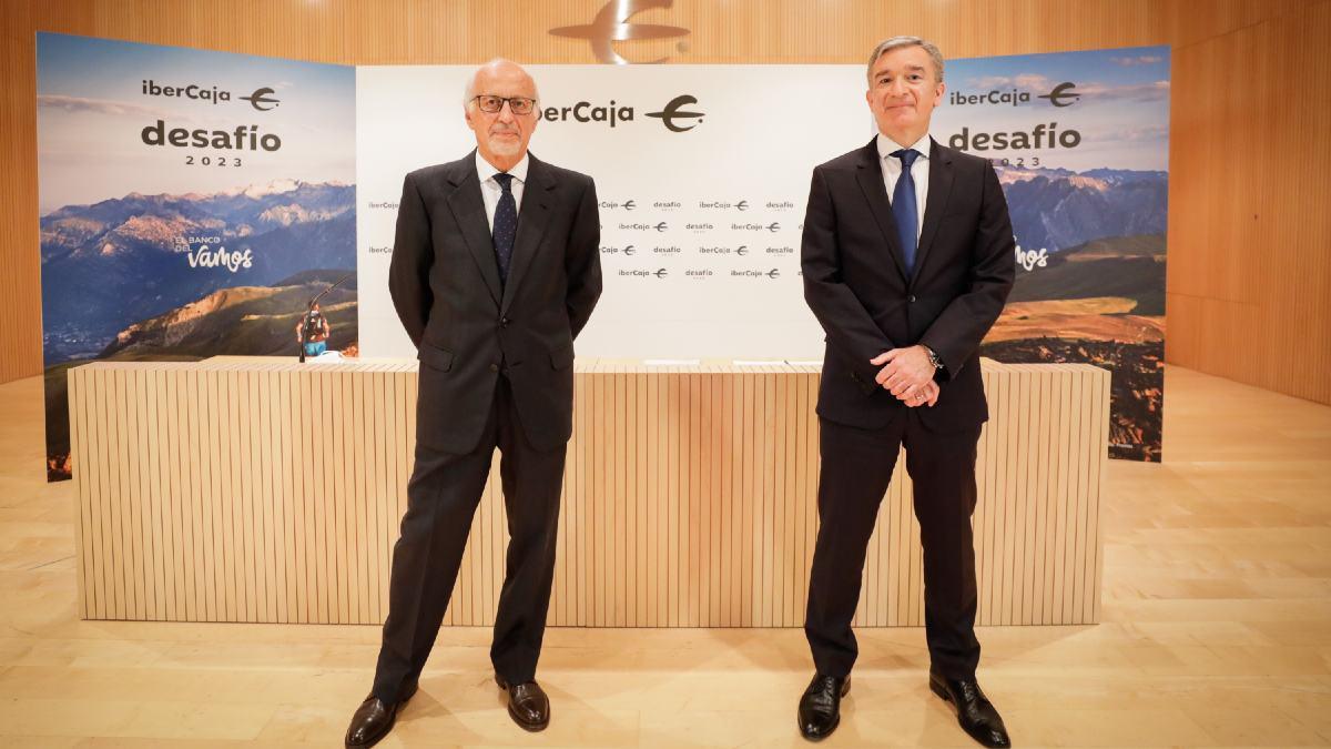 José Luis Aguirre y Víctor Iglesias, presidente y CEO de Ibercaja Banco