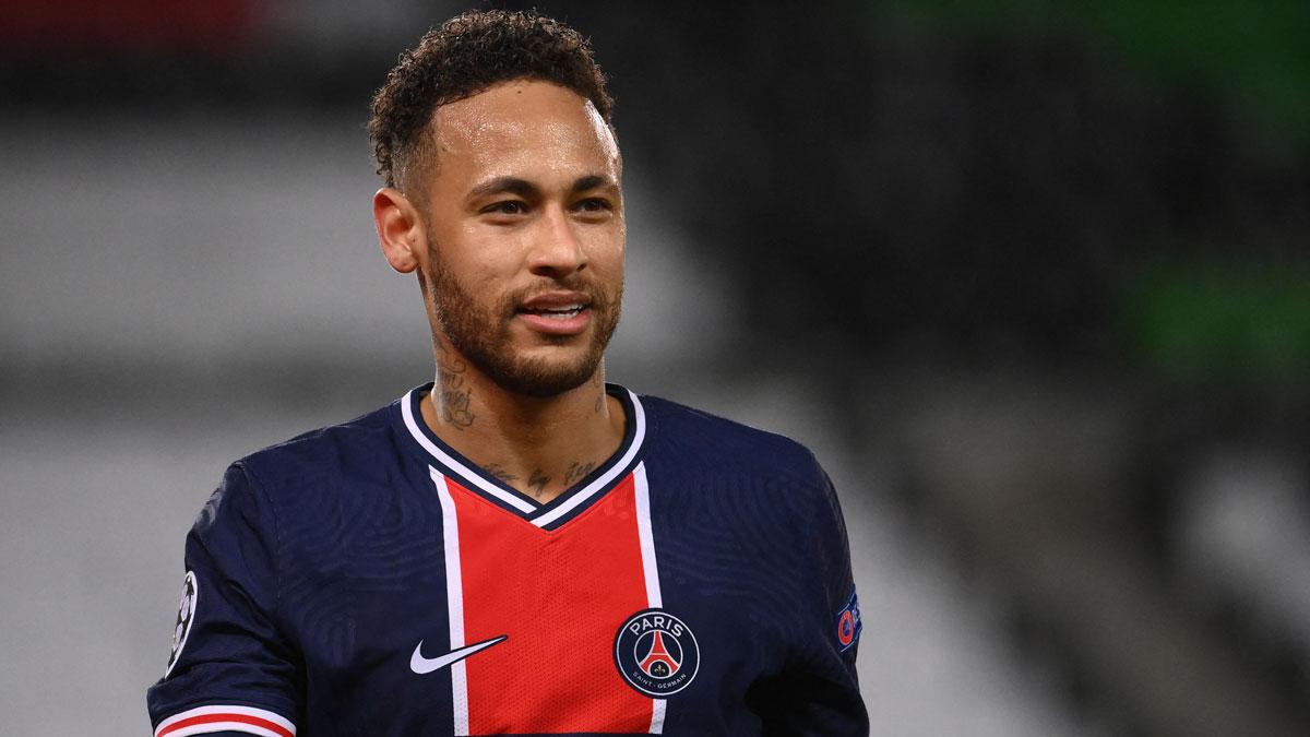 Neymar, durante el partido de Champions League entre el PSG y el Bayern (AFP)