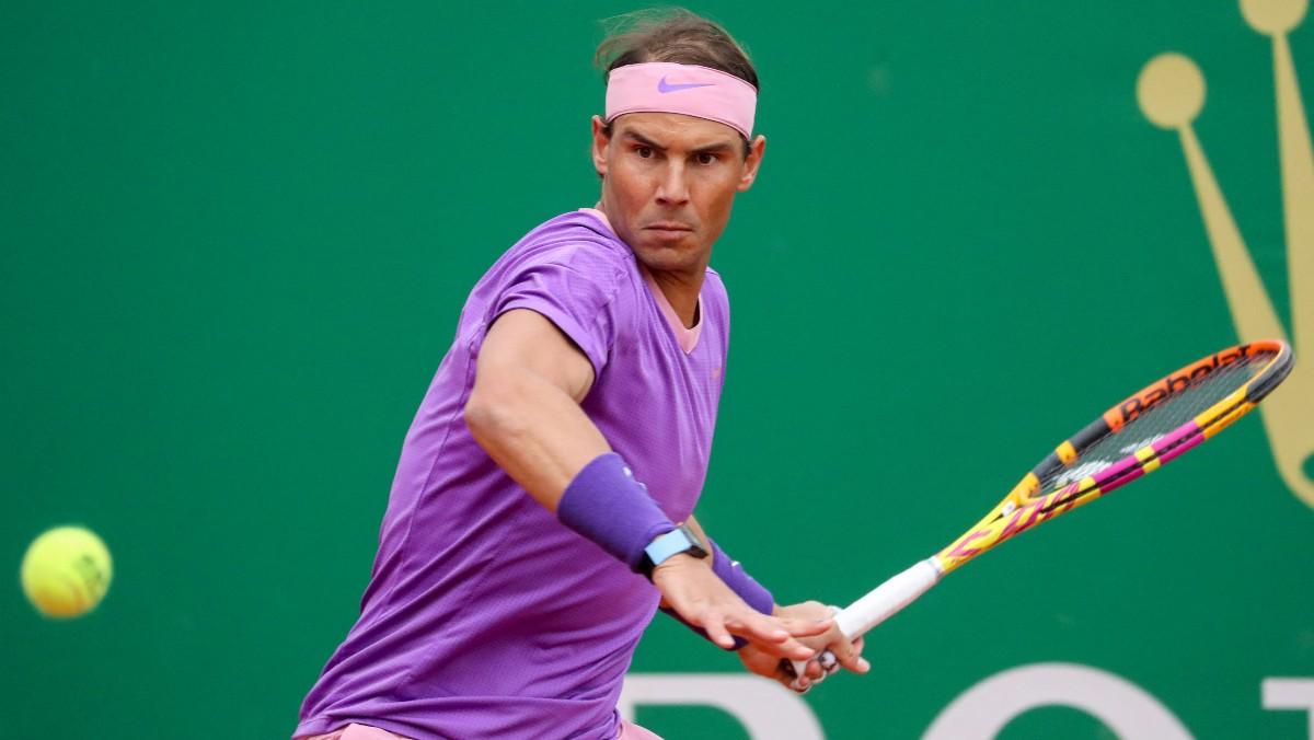 Rafael Nadal, en su debut en Montecarlo. (AFP)