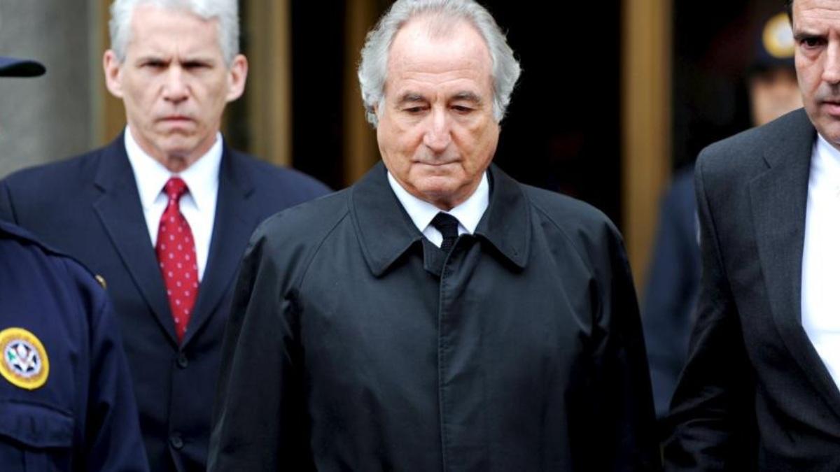 Bernie Madoff en su detención