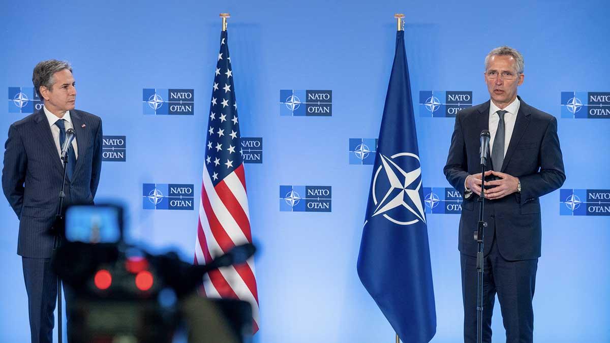 El Secretario General de la OTAN, Jens Stoltenberg (R), y el Secretario de Estado de los EEUU, Antony Blinken. Foto: EP