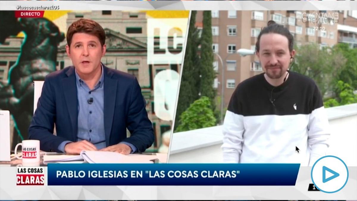 Jesús Cintora y Pablo Iglesias