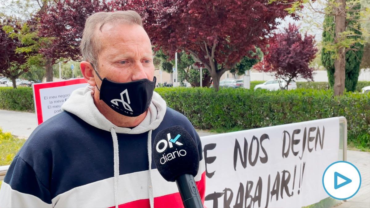 Eduardo Abenojar entrevistado por OKDIARIO en Salou.
