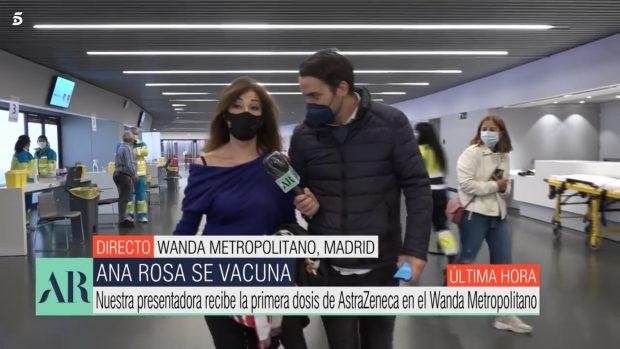 Ana Rosa Quintana recibió en directo la vacuna contra la Covid-19