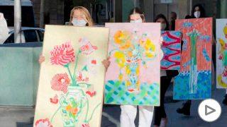 El colectivo Koovo organiza una pasarela de cuadros en movimiento por las calles de Madrid