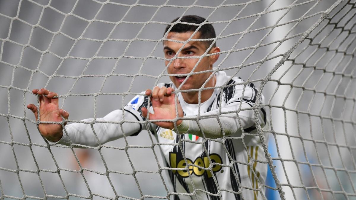 Cristiano Ronaldo, en un encuentro con la Juventus de Turín. (Getty)
