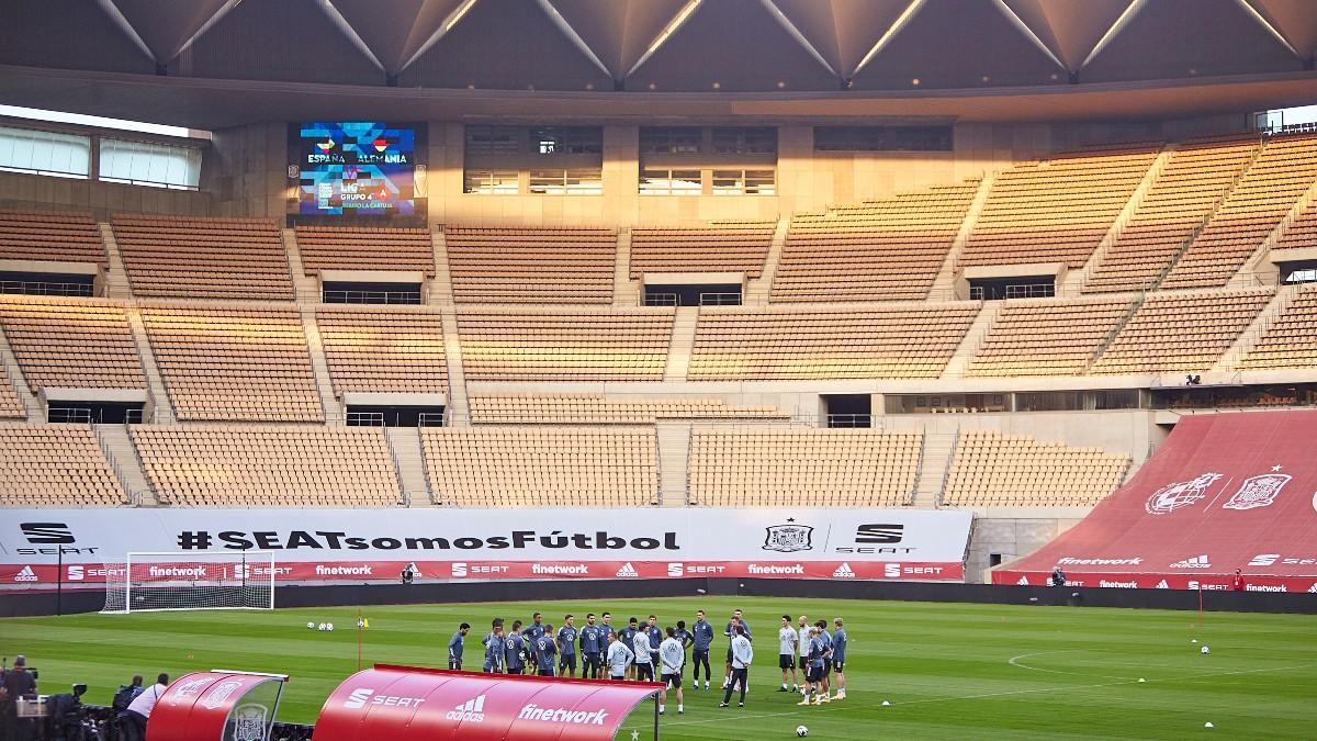 El estadio de La Cartuja de Sevilla.