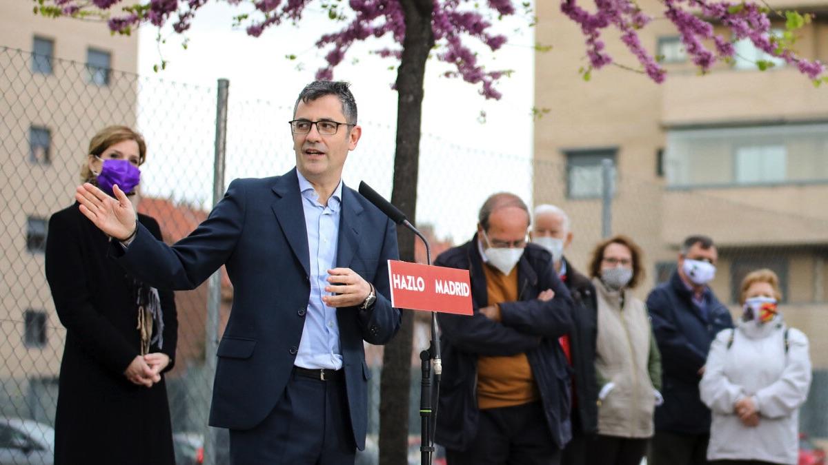 Félix Bolaños en un acto del PSOE en Fuenlabrada. (Foto: PSOE)
