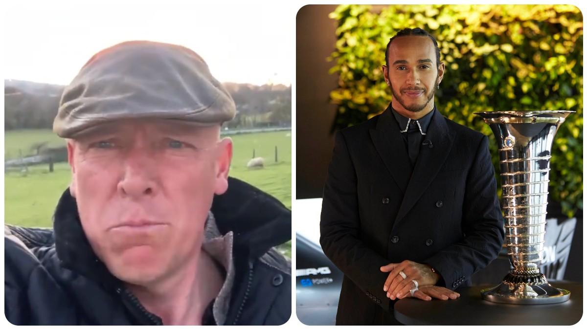 Gareth Wyn Jones y Lewis Hamilton.